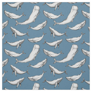 Whales are everywhere fabric