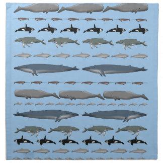Whales Cloth Napkins