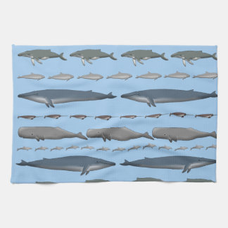 Whales Hand Towels