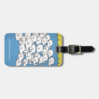 whales luggage tag