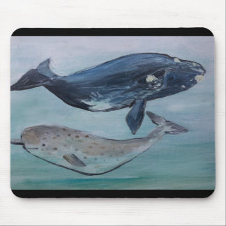 Whales Painting mouse pad