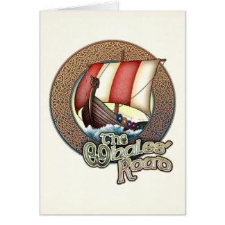 Whales' Road Viking Ship Greeting Card