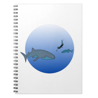 Whaleshark Watching Spiral Note Book