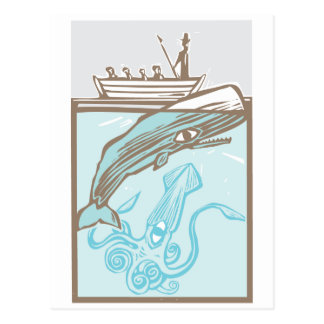 Whaling with Squid Postcard