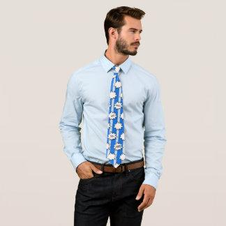 Wham Bam Ka-Pow Blue Striped Tie