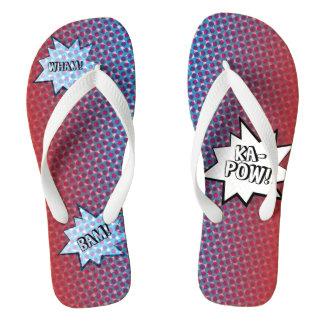 Wham Bam Ka-Pow Flip Flops