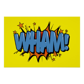 Wham - Comic Sign / Poster
