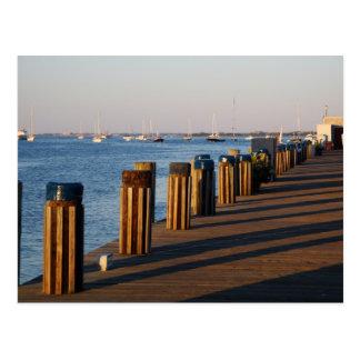 Wharf, Nantucket Harbor Postcard