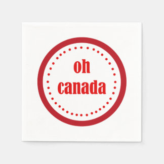 What A Day Canada Day Party Paper Napkins