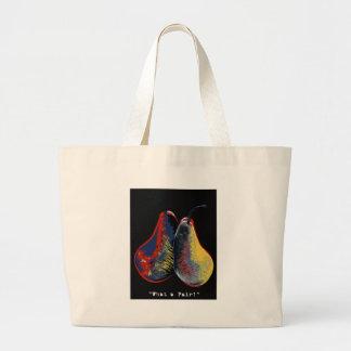 what a pair - dark canvas bag