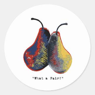 what a pair - light round sticker