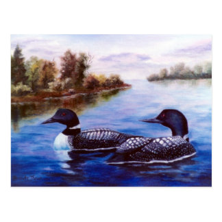What A Pair Loon Postcard