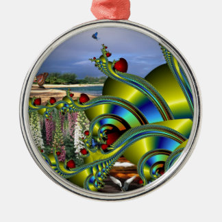 What a Wonderful World.jpg Silver-Colored Round Ornament