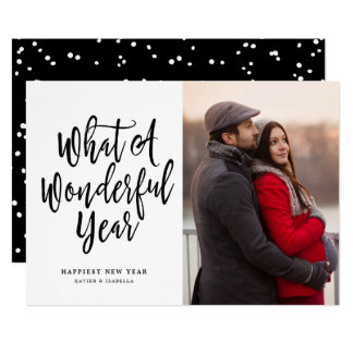 What A Wonderful Year Photo New Year Card