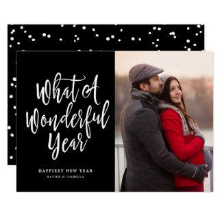 What A Wonderful Year Photo New Year Card