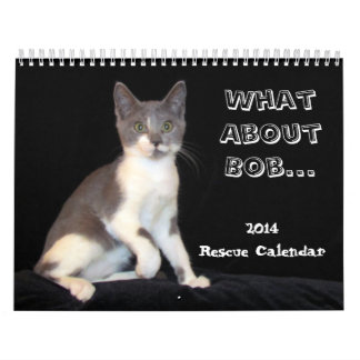 What About Bob Rescue Kitten / Cat Calendar - 2014