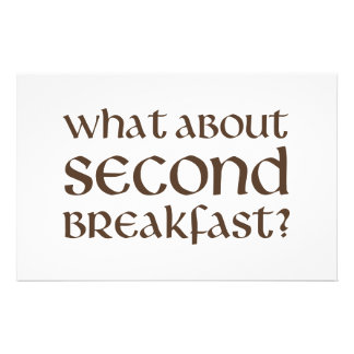 What About Second Breakfast Stationery Paper