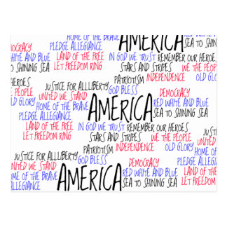 What America Means to Me Postcard