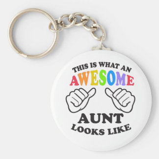 What an awesome gay AUNT Keychain