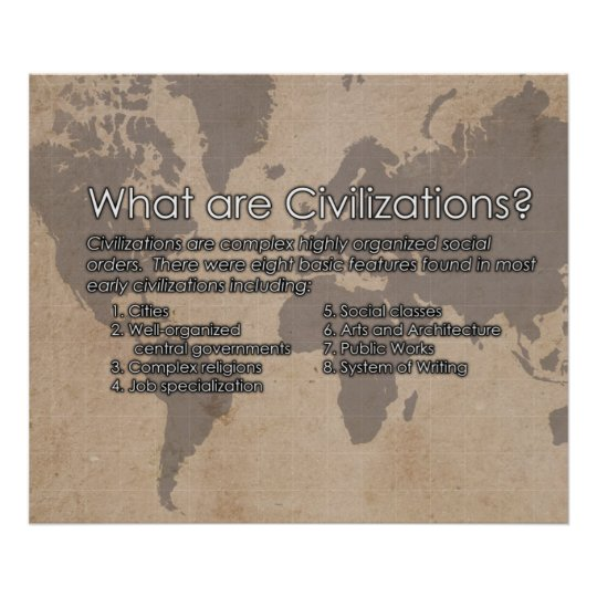 What are Civilizations?  Poster *UPDATED*