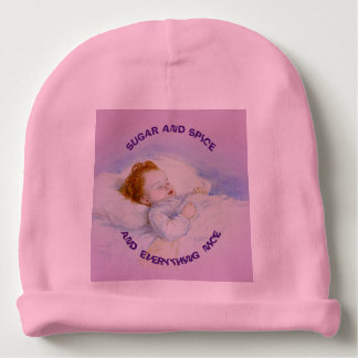 What Are Little Girls Made Of Baby Hat Baby Beanie