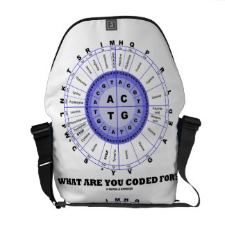 What Are You Coded For? (DNA Replication) Commuter Bags