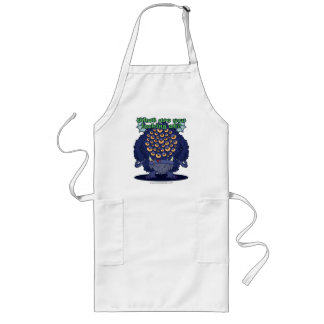 What are you looking at? (Blue Monster) Long Apron