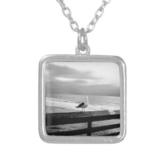 What are you looking at? silver plated necklace