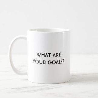 What Are Your Goals? Left Handed Classic Mug