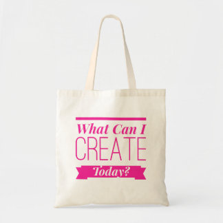 What Can I Create Today - Tote in Pink Lettering