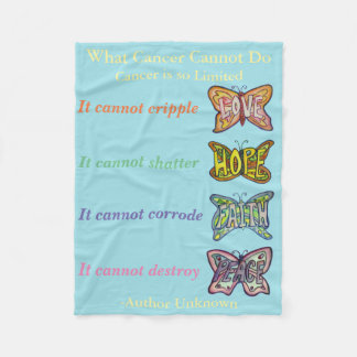What Cancer Cannot Do Angel Chemo Custom Blanket