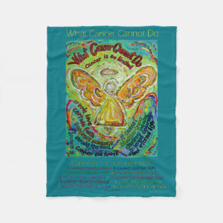 What Cancer Cannot Do Angel Fleece Chemo Blanket