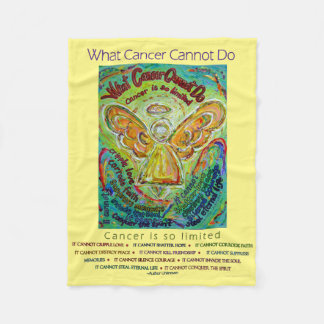 What Cancer Cannot Do Chemo Angel Fleece Blankets
