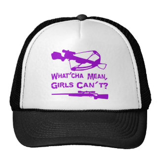 What'Cha Mean Girls Can't? Mesh Hats