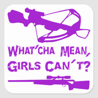 What'Cha Mean Girls Can't Square Stickers