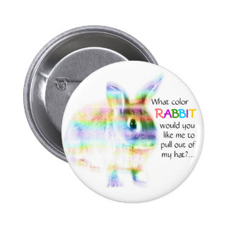 What color Rabbit...? 2 Inch Round Button