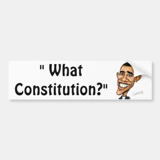 """What Constitution?"" Bumper Sticker"