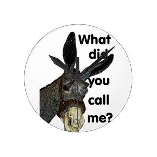 What did you call me? wallclock