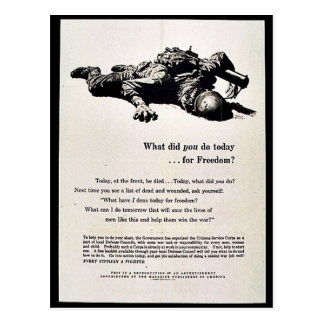 What Did You Do Today For Freedom? Postcard