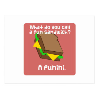 What do you call a pun sandwich? A Punini Postcard
