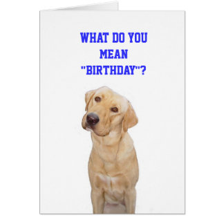 """What do you mean""""birthday""""? card"""