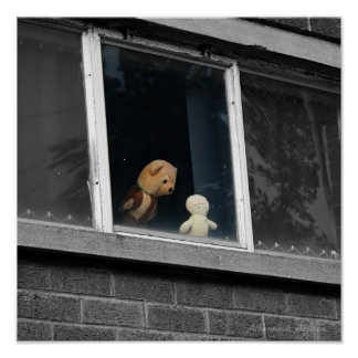 What Do You See My Friend? Still Life of Soft Toys Poster
