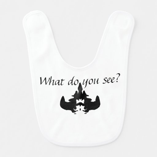 What do you see? the blot test baby bib