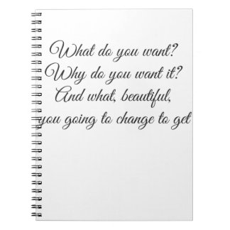 What do you Want? Spiral Notebook
