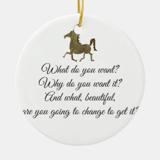 What do you want unicorn? ceramic ornament