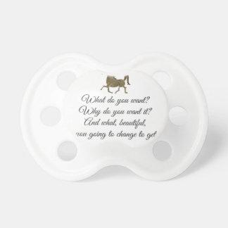 What do you want unicorn? pacifier
