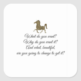 What do you want unicorn? square sticker