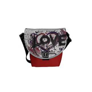 What does Love mean? messenger bag