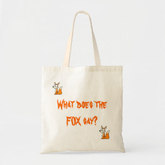 What does the fox say? Bag