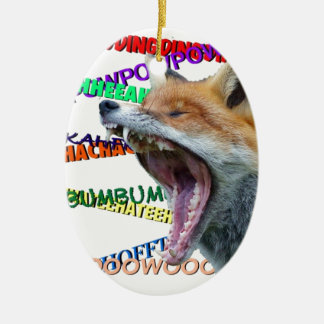 What Does the Fox Say? Ceramic Ornament